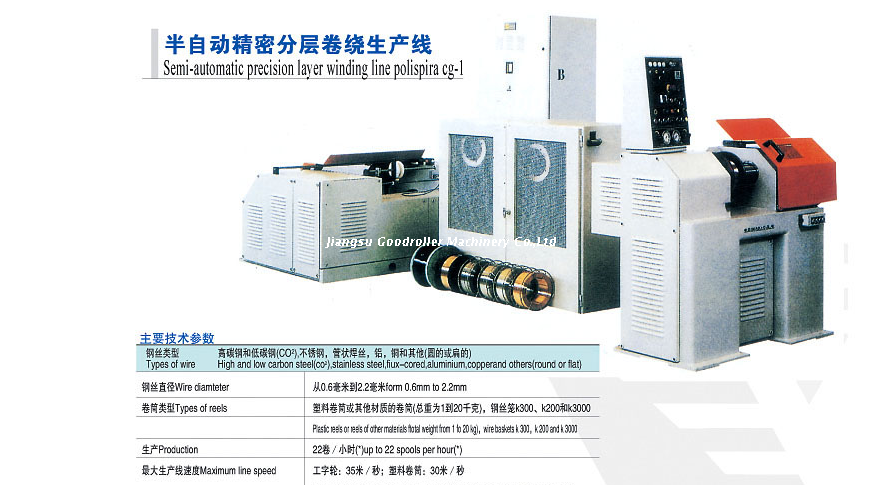 Semi-automatic precision layer winding machine