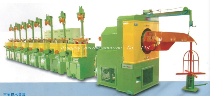 Straight-line wire drawing machine