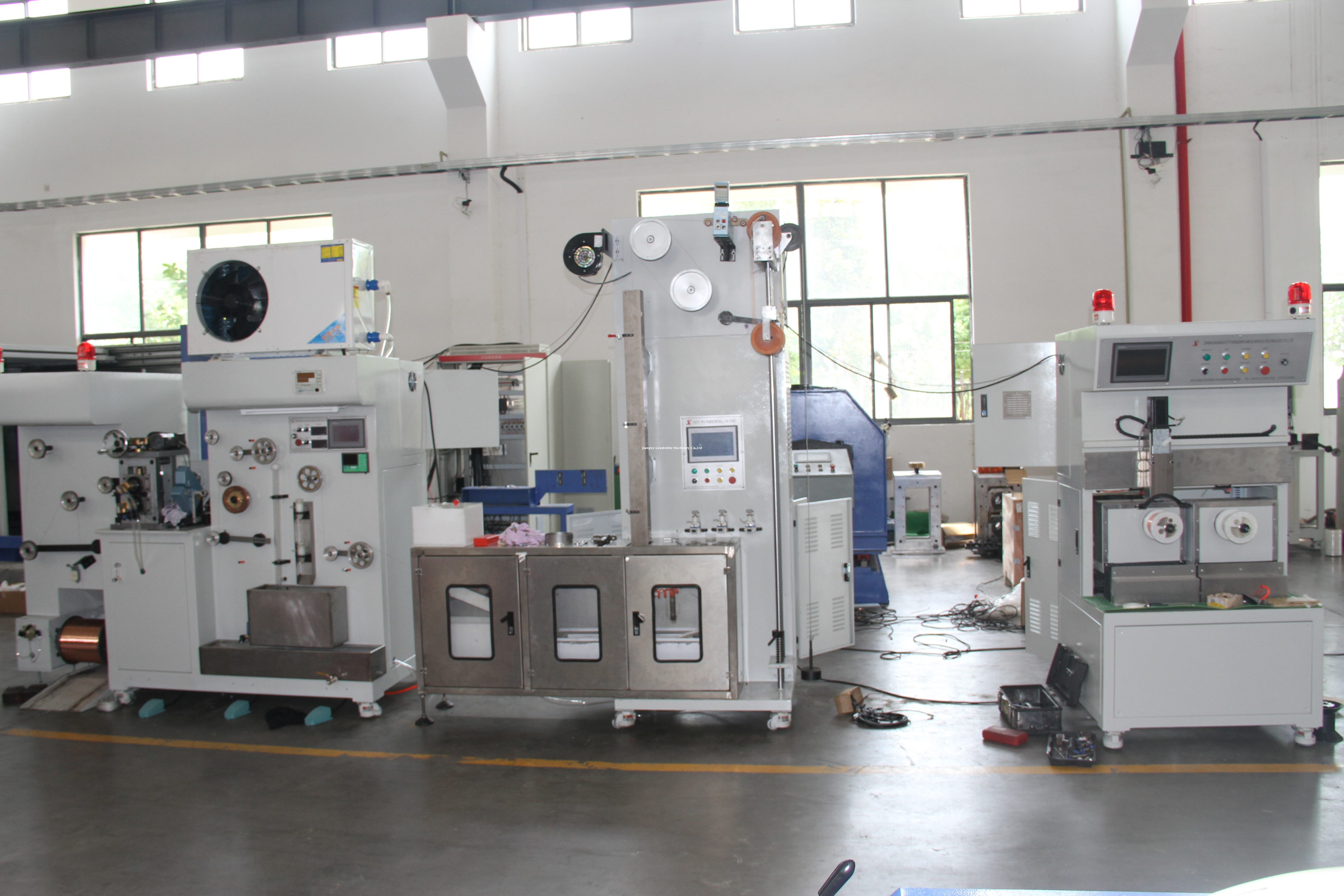 Busbar high speed production machine for sun wire.